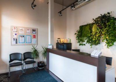 Reception Desk at LiveWell Baden